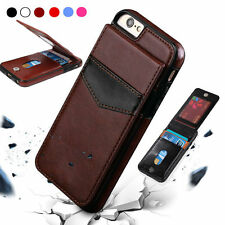 Brown Leather Wallet Card Slot Holder Flip Stand Back Cover Case For iPhone 6/6s