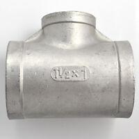 "1-1/2""X1""X1-1/2"" Female Tee Threaded Reducer Tube Pipe Fitting SS304 NPT WOG1000"