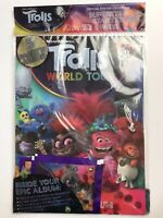 **TROLLS WORLD TOUR OFFICIAL UK TOPPS (PANINI-STYLE) STICKER ALBUM 2020 NEW*