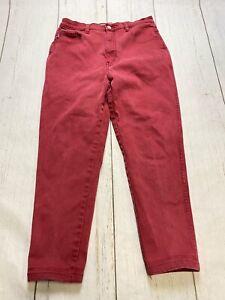 Vintage Gasoline women's high waist red stretch skinny jeans size 32