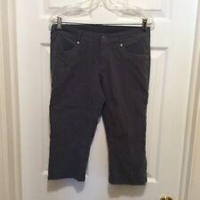 Kuhl Pants 6 Dark Gray Cropped Pockets Straight Leg