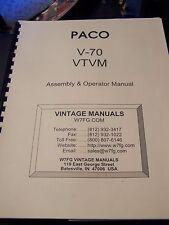 PACO V-70 VTVM ASSEMBLY & OPERATOR MANUAL