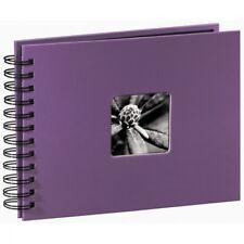 Fine Art Spiralbound Album 24x17cm 50 black pages Purple