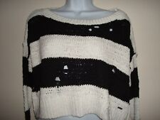 Juniors Hollister Knit Cropped Sweater With Drope off Shoulder Size M NT