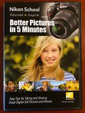 Nikon School - Better Pictures in 5 Minutes (DVD, 2012) - E0331
