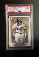 Dodgers COREY SEAGER 2014 Bowman Draft Picks Prospect Rookie Card MINT PSA 9