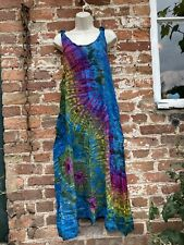 Gringo Tie Dye Maxi dress hippie boho alternative festival free size