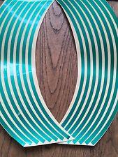 16 Green Wheel Rim Reflective Stickers Stripe Motorbike Safe Motorcycle Bike