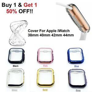 Screen Protector For Apple Watch Series SE 6 5 4 3 2 1 Case Cover 38 40 42 44mm