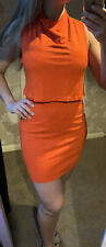 Ladies French Connection Orange Dress - Size 10 Preloved ❤️