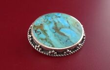 STERLING SILVER .925 WITH TURQUOISE PIN / BROCHE