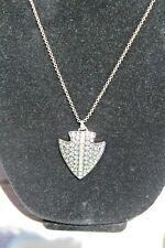 Nwt Montana Silversmiths Necklace Silver & CZ's Bling  Arrowhead
