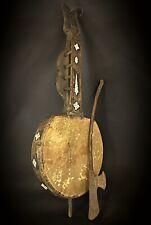 Antique rare instrument music Rabab début XXE - Os,vessie,bois-Indonésie