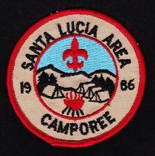 BSA mint 1986 pre-merged Santa Lucia Area Council Camporee event patch Boy Scout