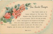 DB Religious Postcard E254 Matthew 6:9-13 The Lords Prayer Our Father Which Art