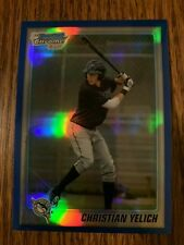 2010 CHRISTIAN YELICH BOWMAN CHROME #67/199 BLUE REFRACTOR RC ROOKIE CARD