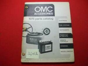 VINTAGE 1976 OMC OUTBOARD PARTS & ACCESSORIES CATALOG #172968 VCGFA COLLECTIBLE