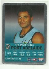 2009 AFL TEAMCOACH SILVER PORT ADELAIDE DAVID RODAN #135 CARD MAGIC MOMENT ?