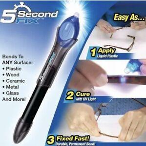 5 Second UV Light Fix Liquid Plastic Welding Compound Glue Repair Pen Tool UK
