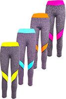Damen Stretch Gymnastik Leggins SportLeggins Laufhose Fitness Yoga Neon Hose
