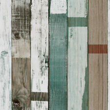 Colorful 10m/Roll Realistic Textured Wood Plank Panel Vinyl Sticker Room  rlll