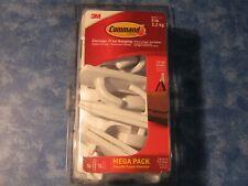 3M COMMAND MEGA PACK 13 LARGE PLASTIC HOOKS Damage-Free Hanging Holds 5 Pounds