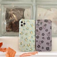 Couple Floral Pattern Phone Case Cover For Apple iPhone 12 Pro 12 11 XR 7 8 XS X