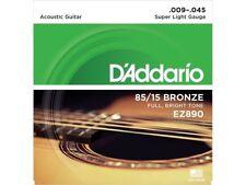 D'Addario EZ890 Muta di corde per chitarra acustica Super Light 009-045