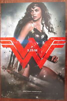 Wonder Woman Batman V Superman Movie Promo Poster Gal Gadot Comic Con 11 x 17
