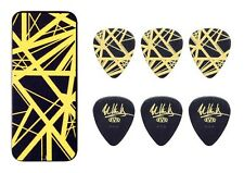 Eddie Van Halen Guitar Picks EVH Black Yellow Stripes Max Grip Pick Tin Collecti