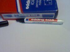 1 x EDDING 404 BLACK  PERMANENT MARKER 0.75mm WATER-RESISTANT REFILLABLE  PEN