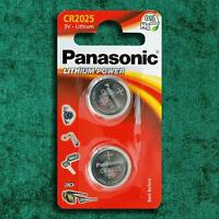 2 x Panasonic CR2025 3V Lithium Coin Cell Battery DL 2025 Key Fobs Watch Battery
