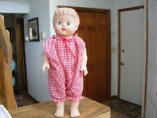 """Vintage Rubber Doll 10"""" Tall with Squeaker"""