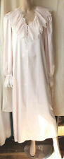 Jane Woolrich long nightdress silky satin pink size s/10-12 victorian gothic bn