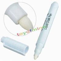 2x White Liquid Chalk Pen / Marker für Glas Windows Tafel Tafel Neu