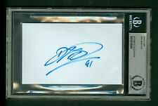 Dirk Nowitzki Autographed Index Card Beckett BAS Authentic encased