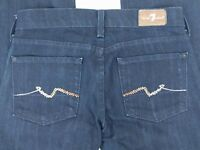 7 FAM Seven FOR ALL MANKIND Womens Dark Blue Classic Straight Jeans Pants 24