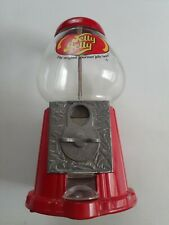 """Jelly Belly Mini Bean Machine Candy Dispenser 12"""" Coin Operated Metal & Glass"""
