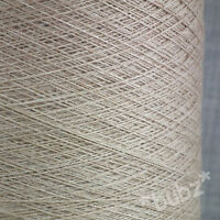 MACHINE WASHABLE PURE MERINO WOOL YARN 2/30s OATMEAL  500g CONE LACEWEIGHT 1 PLY