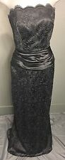 Black Formal Lace Dress/Gown Strapless Designer Roberta Sz US (4-6)-8/10
