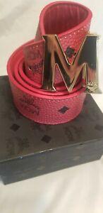 MCM Belt-Red fits waist sizes 34-38