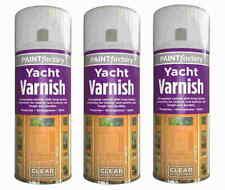 All Purpose Clear Yacht Varnish Spray Exterior Interior Waterproof 250ml