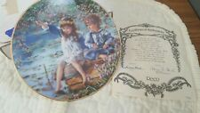 Patience Plate by Sandra Huck Hearts and Flowers Collection #2482