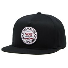 Vans CHECKERED SIDE Mens Hat (NEW) Snapback Cap BLACK Off The Wall FREE SHIPPING