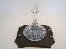 Decanter Czech/ Bohemia Crystal & Cut Glass Objects