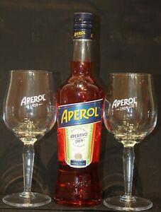 Aperol Aperitivo 1919 Set 0,7 Liter Aperol Spritz mit 2 Original Glas Gläsern