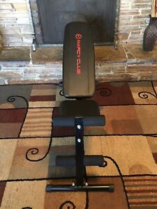 Adjustable Marcy Abdominal Weight Bench Marcy Club Multi Position Ab Toner Nice!