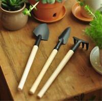 Mini Garden Gardening Plant Tools Set with Wooden Handle Shovel Rake Spade WA