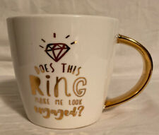 New listing Gold Gilt Does This Ring Make Me Look Engaged Coffee Mug by Slant