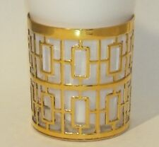 VINTAGE IMPERIAL GLASS SHOJI GOLD ROCKS GLASS 8 OZ